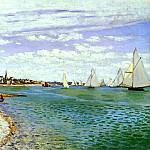 Regatta at Sainte-Adresse, Клод Оскар Моне