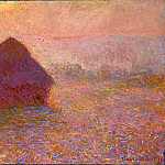 Claude Oscar Monet - Grainstack, Sun in the Mist