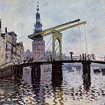 The Bridge, Amsterdam, Claude Oscar Monet