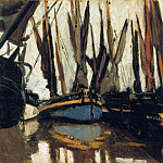 Claude Oscar Monet - Fishing Boats (study)