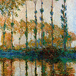 Poplars on the Banks of the River Epte in Autumn, Claude Oscar Monet
