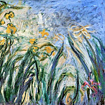 Yellow Irises and Malva, Claude Oscar Monet