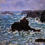 Belle-Ile, Rain Effect, Claude Oscar Monet