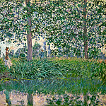 Fishing on the River Epte, Claude Oscar Monet