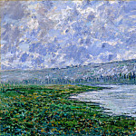 The Seine and the Chaantemesle, Claude Oscar Monet
