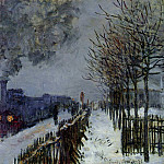 Claude Oscar Monet - Train in the Snow, the Locomotive