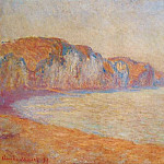 Claude Oscar Monet - Cliff at Pourville in the Morning