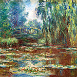 Claude Oscar Monet - Water Lily Pond and Bridge