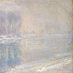 Claude Oscar Monet - Ice on the Siene at Bennecourt