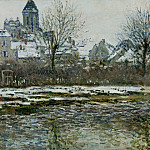 Vetheuil, the Church, Snow, Claude Oscar Monet