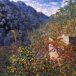 The Valley of Sasso, Blue Effect, Claude Oscar Monet