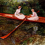 The Pink Skiff, Claude Oscar Monet