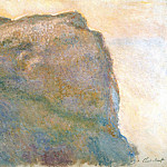 Claude Oscar Monet - Cliff at Petit Ailly
