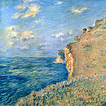 Cliff at Fecamp, Claude Oscar Monet