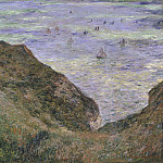 Claude Oscar Monet - View over the Sea, Cliff of Pourville