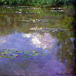 Water Lilies, The Clouds, Claude Oscar Monet