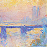 Charing Cross Bridge 01, Claude Oscar Monet