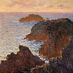 Rocks at Belle-Ile, Port-Domois, Claude Oscar Monet