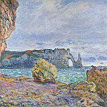 Etretat, the Beach and the Porte d'Aval, Claude Oscar Monet