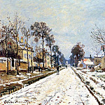 Snow Effect, The Road to Louveciennes. JPG, Клод Оскар Моне
