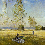 Meadow at Bezons, Claude Oscar Monet