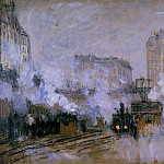 Claude Oscar Monet - Saint-Lazare Station, Arrival of a Train