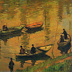 Anglers on the Seine at Poissy, Клод Оскар Моне