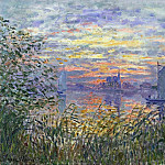 Claude Oscar Monet - Sunset on the Siene