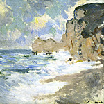 Claude Oscar Monet - Effect of Waves at Etretat