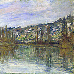 The Seine near Vetheuil, Claude Oscar Monet
