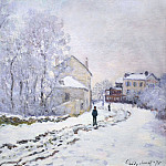 Snow in Argenteuil, Клод Оскар Моне
