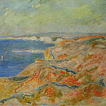 On the Cliff near Dieppe, Claude Oscar Monet