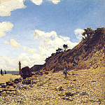 The Beach at Honfleux, Claude Oscar Monet