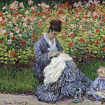 Madame Monet and Child, Клод Оскар Моне