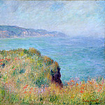 Cliff near Pourville, Claude Oscar Monet