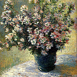 Claude Oscar Monet - Vase of Malva Flowers