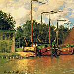 Boats at Zaandam, Claude Oscar Monet