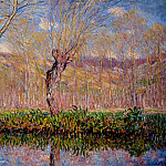 The Banks of the River Epte in Springtime, Claude Oscar Monet