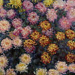Bed of Chrysanthemums, Claude Oscar Monet
