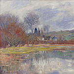 The Spring at Vetheuil, Claude Oscar Monet