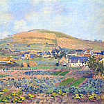 Claude Oscar Monet - The Mount Riboudet in Rouen at Spring