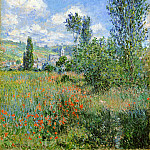 Lane in the Poppy Fields, Ile Saint-Martin, Claude Oscar Monet