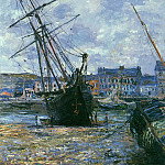 Boats Lying at Low Tide at Facamp, Claude Oscar Monet
