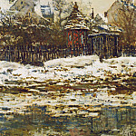 Vetheuil, The Church in Winter, Claude Oscar Monet