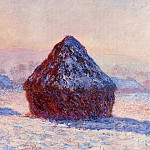 Claude Oscar Monet - Grainstacks in the Morning, Snow Effect