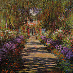 Pathway in Monet's Garden at Giverny, Claude Oscar Monet