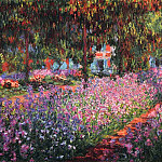 Claude Oscar Monet - Irises in Monet's Garden 01