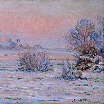 Winter Sun, Lavacourt, Клод Оскар Моне