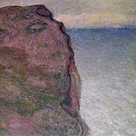 Cliff at Petit Ailly, at Varengeville, Клод Оскар Моне