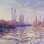 Floating Ice on the Seine, Claude Oscar Monet